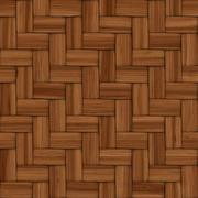 Abstract decorative wooden textured basket weaving. 3D image - stock illustration