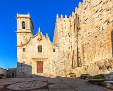Church of the Virgin of Ermitana (1714) in Peniscola, Spain. Stock Photos