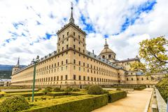 Royal Monastery of San Lorenzo de El Escorial (1584) near Madrid, Spain - stock photo