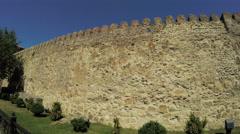 View of Mtskheta Georgia Ancient stone wall Stock Footage