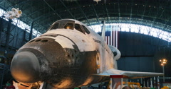 Space Shuttle Discovery at Air and Space Museum in Chantilly, VA 4K - stock footage