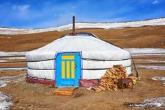 Yurt - home of nomadic peoples Stock Photos