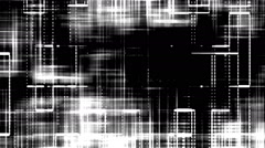 White Noise Grid on Black Background - stock footage