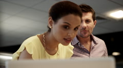 Business people discussing at office. Stock Footage