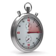 Stopwatch on white background. Isolated 3D image Stock Illustration