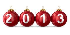 Christmas decoration on white background. 2013 year. Isolated 3D image - stock illustration