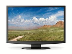 TV on white background. Isolated 3D image Stock Illustration