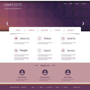 Website Template with Abstract Header Design Stock Illustration