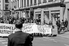April protest against Labour reforms in France - stock photo