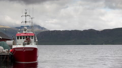 Lake water norway nature timelapse boat shipping ferry Stock Footage
