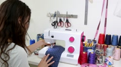 Fabric sewing machine  Stock Footage
