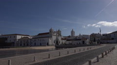 4k Church Santa Maria city center Lagos Portugal Stock Footage