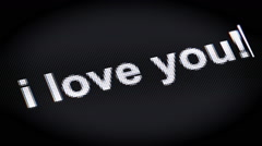 I love you! Stock Footage