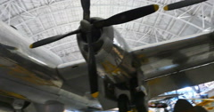 Enola Gay Boeing B-29 Superfortress at Air and Space Museum in, VA Stock Footage