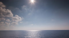 ferry boat sea mediterranean ocean water calm waves blue - stock footage