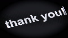 """thank you!"" on the screen - stock footage"