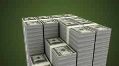Increasing money (Loop able, Alpha) Stock Footage