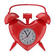Alarm clock on white background. Isolated 3D image Stock Illustration