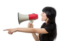 Trying to be heard - stock photo