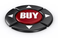 Button buy on white background. Isolated 3D image Stock Illustration