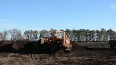 Tractor loader Stock Footage