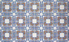 Portuguese decorative tiles azulejos - stock photo