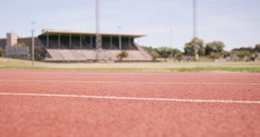 Sportsperson running Stock Footage