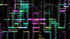 Glitched Distorted Illuminated Colored Led Grid Loop Background - stock footage