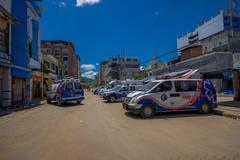 Portoviejo, Ecuador - April, 18, 2016: Rescue team vehicles  making recovery - stock photo