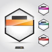 symbol, bright, abstract, talk, origami, concept, decoration sticker, black - stock illustration