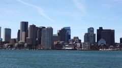 4K UltraHD Timelapse Boston city center and harbor Stock Footage