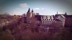 Castle Altenburg Germany arieal view medieval town Stock Footage