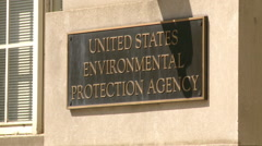 Environmental Protection Agency Stock Footage