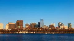 4K UltraHD Timelapse Boston city center at dusk Stock Footage