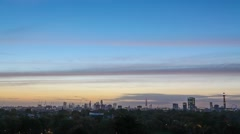 Timelapse London City Sunrise lapse time-lapse skyline on primrose hill  Stock Footage