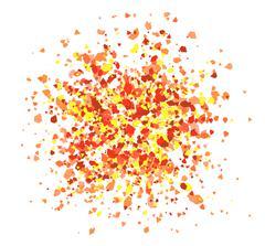 Colorful explosion, paint drip, splash design vector illustration. - stock illustration