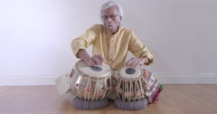 Dancers drummer percussion indian music performer art beats Stock Footage
