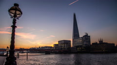 Timelapse Shard lapse London city sunrise morning early time-lapse Stock Footage