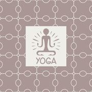 Enlightenment Yoga Studio Design Card Stock Illustration