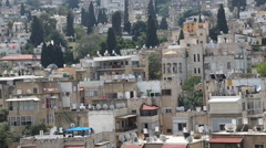 Panoramic view over mid Haifa old buildings Stock Footage