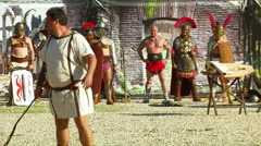 Gladiator game Stock Footage