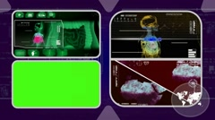 Stock Video Footage of Digestion - Analysis in software - examination - background purple 02