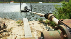 Water treatment to increase the oxygen in the water. Stock Footage