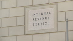 Internal Revenue Service, Washington DC - stock footage