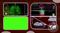 Lungs - Analysis in software - examination - background red 02 - stock footage