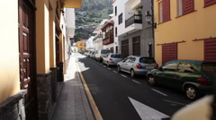 Serene living is in the center of Garachico. Tenerife, Canary, Spain Stock Footage