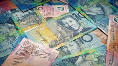 Australian Dollars Rotating Stock Footage