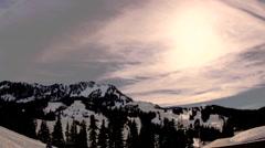 Time Lapse: Washington Cascades Sunset - stock footage