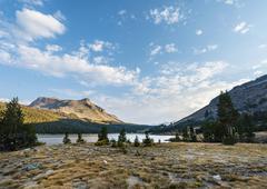 Lake Tioga Inyo National Forest of Mono County California USA North America - stock photo