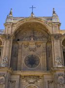 Facade of the cathedral Granada Andalucia Spain Europe - stock photo